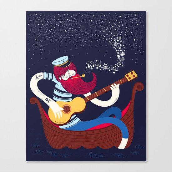 Sea Songs Night Canvas Print
