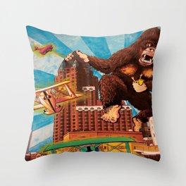 Milwaukee vs. the Super Ape Throw Pillow