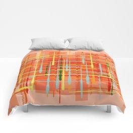Abstract Orange Terminal Comforters