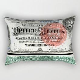 $2 Silver Certificate Rectangular Pillow