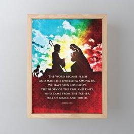 We Have Seen His Glory! Framed Mini Art Print