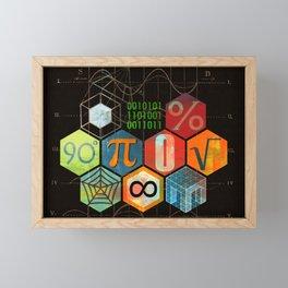 Math Game in black Framed Mini Art Print