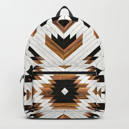 Urban Tribal Pattern No.5 - Aztec - Concrete and Wood Backpack