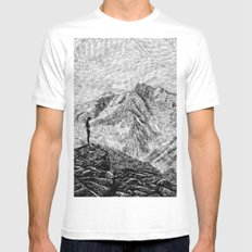 Child on the rock - Black ink Mens Fitted Tee White MEDIUM