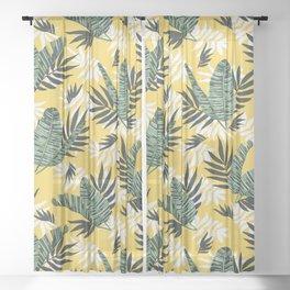 Hot tropical summer Sheer Curtain