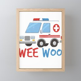 Paramedic  Ambulance Gift Framed Mini Art Print