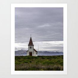 Icelandic Church Art Print