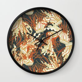 jellyfish slate Wall Clock