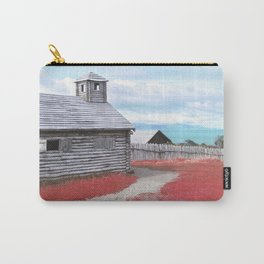 Cabin and colorful grass Carry-All Pouch