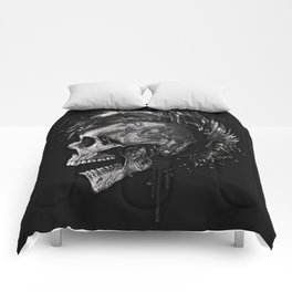 Skull dark illustration. Comforters