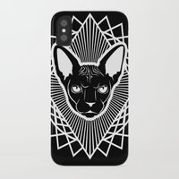 sphynx iPhone & iPod Cases featuring Sphynx by Parapraxis