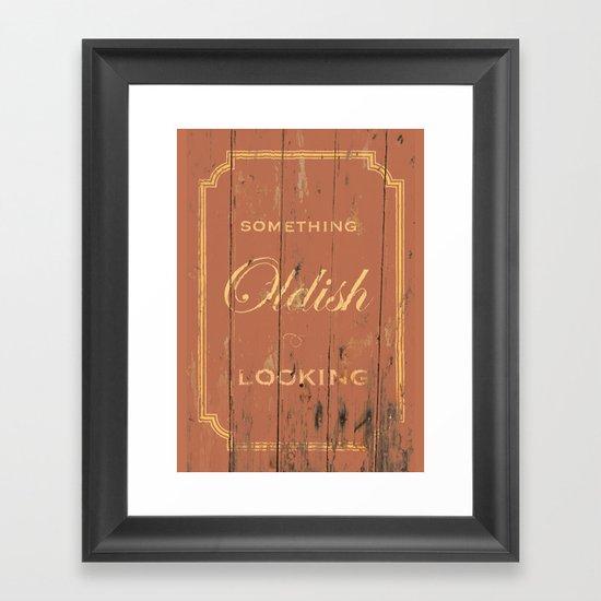 Something Oldish Looking Framed Art Print