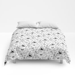 Cryptid Pattern: Ink Lines Comforters