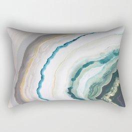 Green Agate #1 Rectangular Pillow