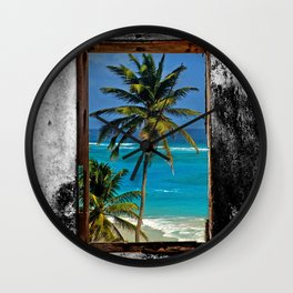WINDOW ON PARADISE Wall Clock