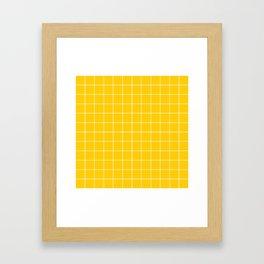 Sunshine Grid Framed Art Print