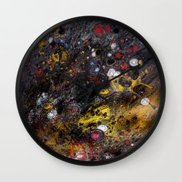 Acrylic Pour Wall Clock
