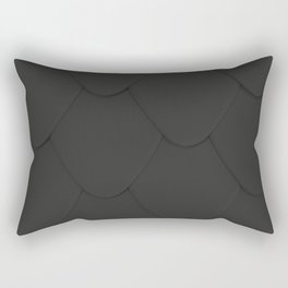 Pattern of black rounded roof tiles Rectangular Pillow