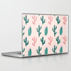 Painted Cactus Pattern on Pink Laptop & iPad Skin