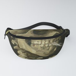 Skull of a Skeleton with Burning Cigarette by Vincent van Gogh Fanny Pack