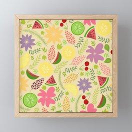 Summer fruit fest Framed Mini Art Print