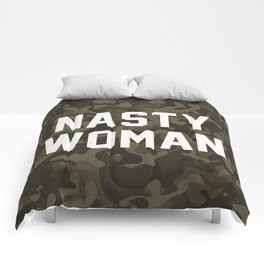 Nasty Woman - camouflage version Comforters
