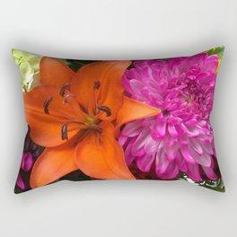 Rainbow of Flowers Rectangular Pillow
