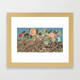 Clouds. Framed Art Print