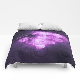 Wi Fi sign. Wi-Fi symbol. Abstract night sky background Comforters