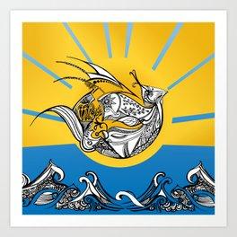 Phoenix Over The Sea Art Print