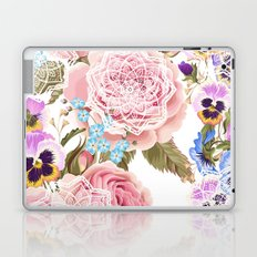 Spring flowers with mandalas Laptop & iPad Skin