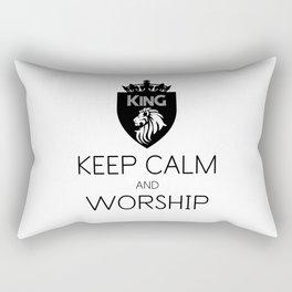 KEEP CALM AND WORSHIP Rectangular Pillow