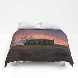 Old House at Sunset Comforters