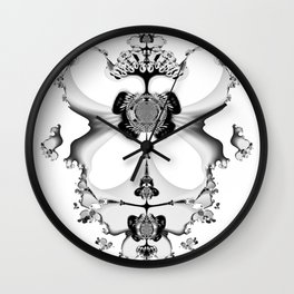 Fractal Art - Angel and Skelleton Wall Clock
