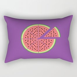 Watermelon Pizza Rectangular Pillow