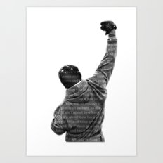 How Hard You Get Hit - Rocky Balboa Art Print