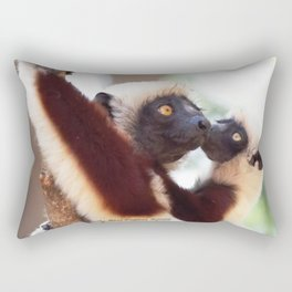 Love: Mother and Infant Coquerel's Sifaka Rectangular Pillow