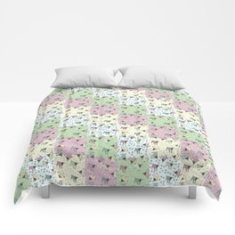 Pajama'd Baby Goats - Small Patchwork Comforters