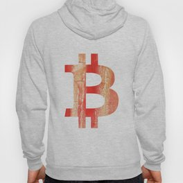Bitcoin Burnt sienna watercolor Hoody