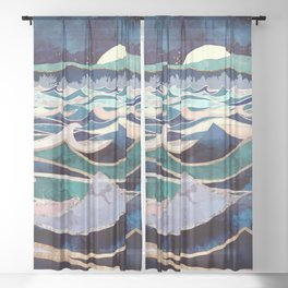 Moonlit Ocean Sheer Curtain