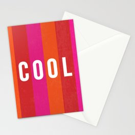 Cool Type on Warm Colors Stationery Cards