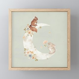 I love you to the moon and back Framed Mini Art Print