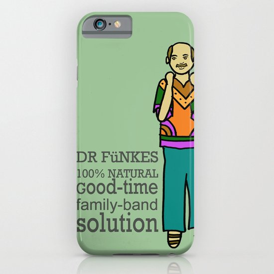 Dr. Funke's 100% natural, good-time family-band solution iPhone & iPod Case