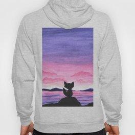 fox and sunset Hoody