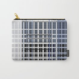 white blue plaid Carry-All Pouch