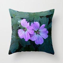 Purple flowers 11 Throw Pillow