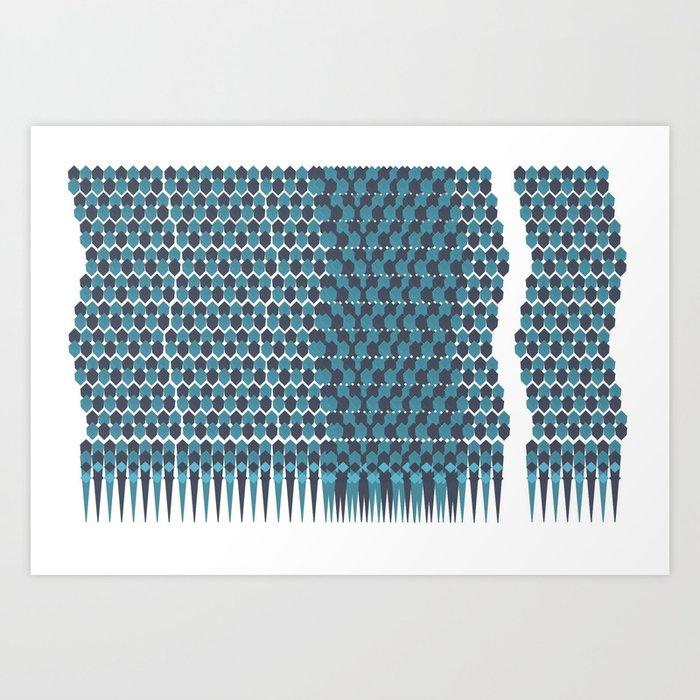 Cubist Ornament Pattern Art Print