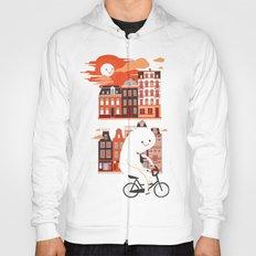 Happy Ghost Biking Through Amsterdam Hoody