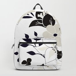 Flower bouquet in black and white Backpack
