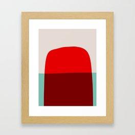 Mid Century Minimal 7 Framed Art Print